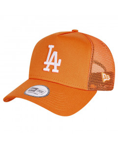 Los Angeles Dodgers New Era Tonal Mesh Trucker A-Frame Orange Mütze