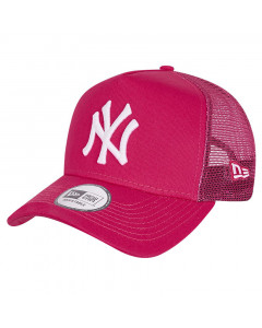 New York Yankees New Era Tonal Mesh Trucker A-Frame Pink kapa