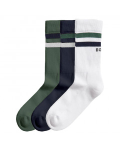 Björn Borg Double Stripe Ankle Screw 3x čarape