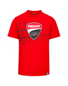 Ducati Corse Logo and Stripes T-Shirt