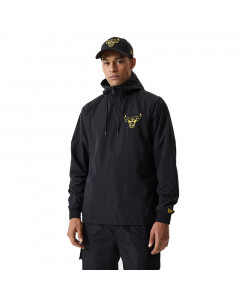 Chicago Bulls New Era Metallic Black Windbreaker Half Zip Windjacke