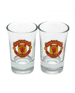 Manchester United 2x Schnapsglas