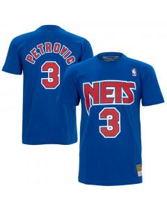 Dražen Petrović 3 New Jersey Nets Mitchell & Ness HWC T-Shirt