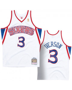 Allen Iverson 3 Philadelphia 76ers 1996-97 Mitchell & Ness Home Swingman dres