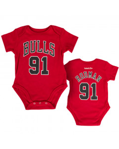 Denis Rodman 91 Chicago Bulls Mitchell & Ness Baby Body