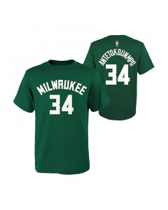 Giannis Antetokounmpo 34 Milwaukee Bucks Kinder T-Shirt