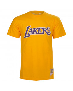 Los Angeles Lakers Mitchell & Ness Worn Logo HWC T-Shirt