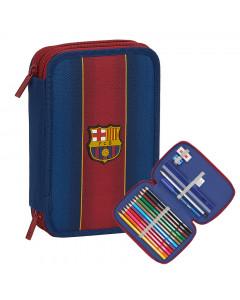 FC Barcelona Double Federtasche gefüllt