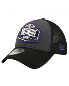 Baltimore Ravens New Era 39THIRTY Trucker 2021 NFL Official Draft Mütze