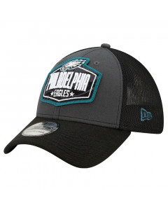 Philadelphia Eagles New Era 39THIRTY Trucker 2021 NFL Official Draft kapa