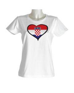 Hrvaška ženska majica srček