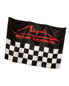 "Michael Schumacher zastava ""Chequered"" 140x100"