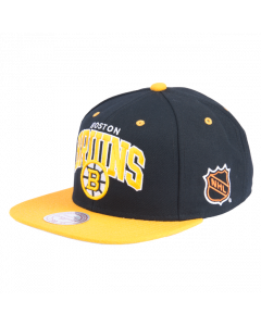Boston Bruins Mitchell & Ness 2 Tone Team Arch Snapback Mütze