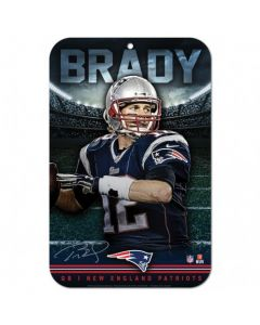 New England Patriots Schild Tom Brady