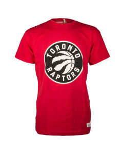 Toronto Raptors Mitchell & Ness Black and White Logo T-Shirt
