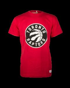 Toronto Raptors Mitchell & Ness Black and White Logo majica