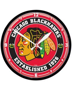 Chicago Blackhawks Wanduhr