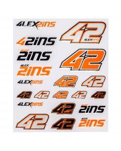 Alex Rins AR42 Aufkleber