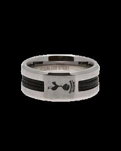 Tottenham Hotspur Black Inlay Ring aus Edelstahl