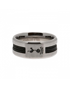 Tottenham Hotspur Black Inlay prsten od nehrđajućeg čelika