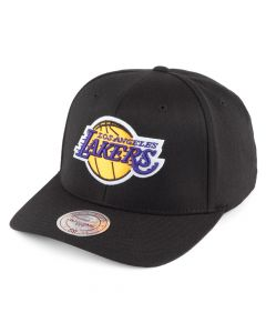 Los Angeles Lakers Mitchell & Ness Team Logo High Crown Flexfit 110 Mütze