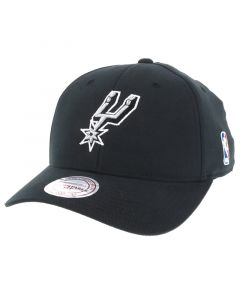 San Antonio Spurs Mitchell & Ness Flexfit 110 Low Pro Mütze