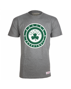 Boston Celtics Mitchell & Ness Circle Patch Traditional T-Shirt