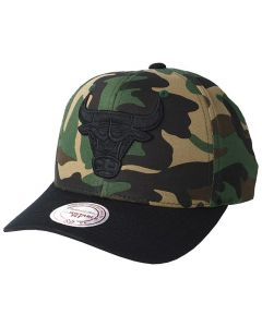 Chicago Bulls Mitchell & Ness Camo Flexfit 110 Mütze