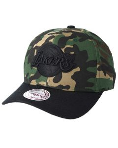 Los Angeles Lakers Mitchell & Ness Camo Flexfit 110 Mütze