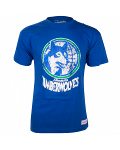 Minnesota Timberwolves Mitchell & Ness Distressed HWC Logo T-Shirt