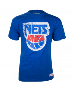New Jersey Nets Mitchell & Ness Distressed HWC Logo T-Shirt