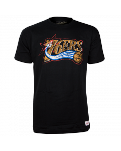 Philadelphia 76ers Mitchell & Ness Distressed HWC Logo T-Shirt