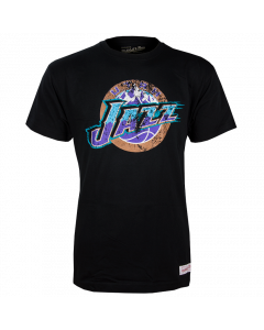 Utah Jazz Mitchell & Ness Distressed HWC Logo T-Shirt