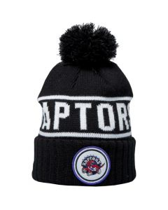 Toronto Raptors Mitchell & Ness Glow In The Dark Pom Knit Wintermütze