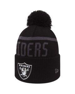 Oakland Raiders New Era Black Collection Bobble Cuff Wintermütze (80536182)