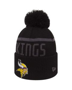 Minnesota Vikings New Era Black Collection Bobble Cuff zimska kapa (80536186)