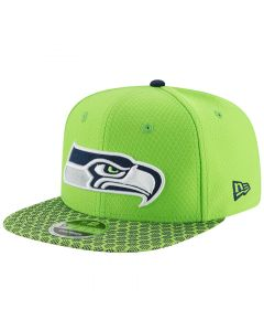 Seattle Seahawks New Era 9FIFTY Sideline OF kačket (11466465)