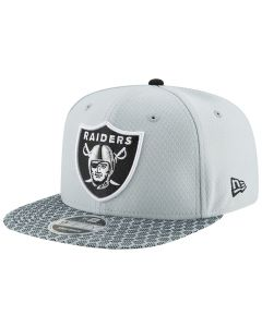 Oakland Raiders New Era 9FIFTY Sideline OF kapa (11466470)