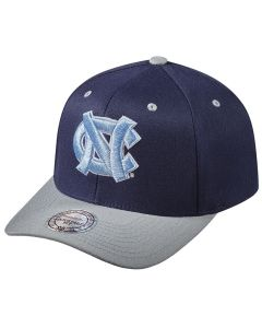North Carolina Tar Heels Mitchell & Ness Team Logo 2-Tone 110 Flexfit kapa