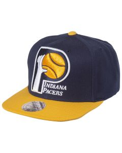 Indiana Pacers Mitchell & Ness XL Logo 2 Tone kačket