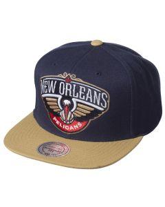 New Orleans Pelicans Mitchell & Ness XL Logo 2 Tone Mütze