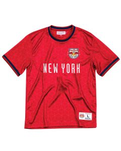New York Red Bulls Mitchell & Ness Equaliser Top T-Shirt