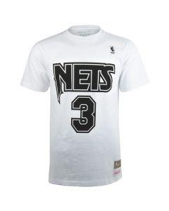 Dražen Petrović #3 New Jersey Nets Mitchell & Ness Black & White majica