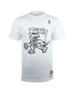 Tracy McGrady 1 Toronto Raptors Mitchell & Ness Black & White T-Shirt