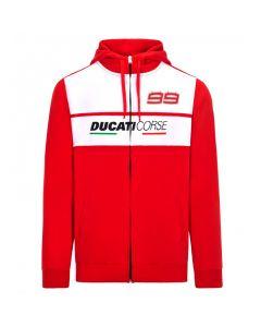 Jorge Lorenzo JL99 Ducati Corse Kapuzenjacke