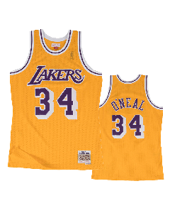 Shaquille O'Neal 34 Los Angeles Lakers 1996-97 Mitchell & Ness Swingman Trikot