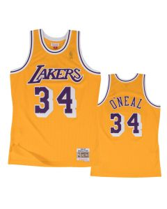 Shaquille O'Neal 34 Los Angeles Lakers 1996-97 Mitchell & Ness Swingman dres