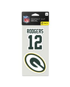 Green Bay Packers 2x Aufkleber Aaron Rodgers