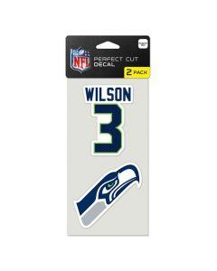 Seattle Seahawks 2x Aufkleber Russell Wilson