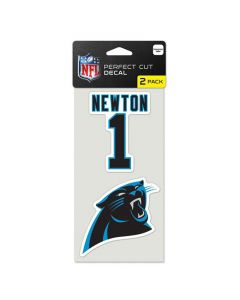 Carolina Panthers 2x Aufkleber Cam Newton